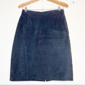 Vintage Interim Black Suede Leather Front Pocket